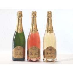 Vintage - 3 Btles de desejo e champanhe HeraLion Mix seleção ouro brilho, rosa