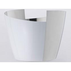 Cubo de la lata Poli blanco BigVersso OA1710 champagne