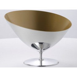 Caldeirão em símbolo de Champagne polido estanho e ouro Interior OA1710