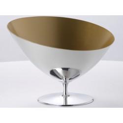 Vasque à Champagne Symbol en Etain poli et intérieur Or OA1710
